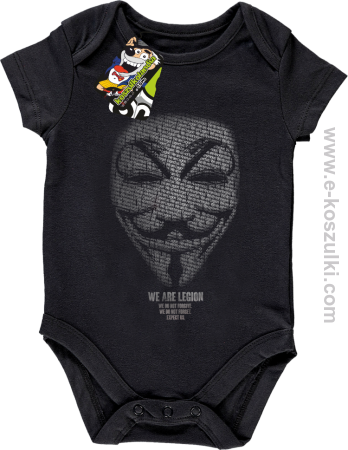 We are Anonymous We are Legion We do not forgive, we do not forget Expect us - body dziecięce