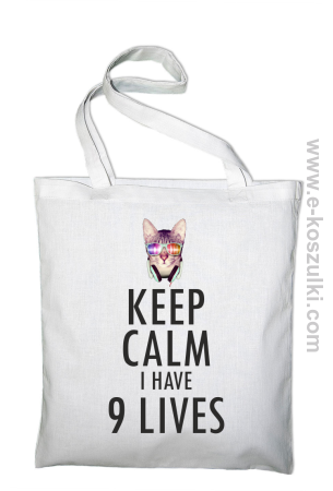 Keep Calm I Have 9 Lives CatDisco - torba eko