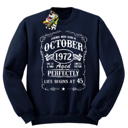 Legends were born in October Aged Perfectly Life Begins - z własną personalizacją - bluza bez kaptura STANDARD
