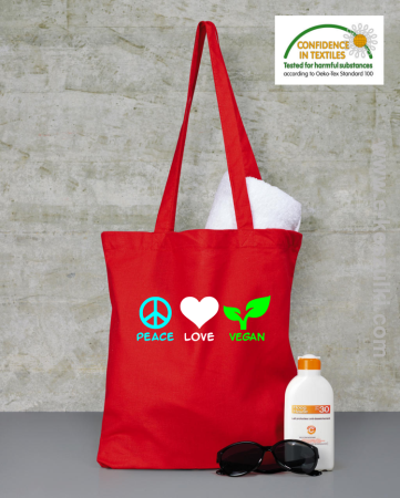 Peace Love Vegan - torba
