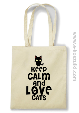 Keep Calm and Love Cats BlackFilo - torba eko
