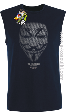 We are Anonymous We are Legion We do not forgive, we do not forget Expect us - bezrękawnik męski