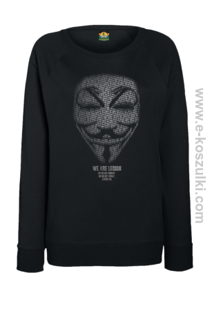 We are Anonymous We are Legion We do not forgive, we do not forget Expect us - bluza damska bez kaptura