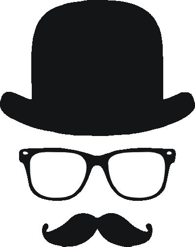 wąs wąsacz z melonikiem i w okularach motyw na koszulkę